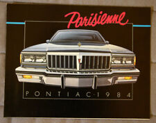 PONTIAC PARISIENNE 1984 dealer brochure - French - Canadian Market