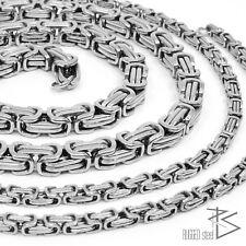 Königskette Edelstahl Kette Panzerkette Halskette Männer Herren silber