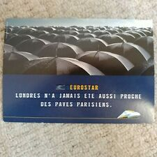 Vintage RARE Eurostar post card with ticket promo price list on the back NEW