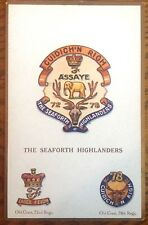 The Seaforth Highlanders Postcard Gale & Polden Military Scottish Emblem Crest
