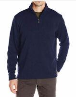 Men`s WRANGLER Quarter Zip Fleece Jumper Size 3XL-4XL Sweatshirt Top Navy
