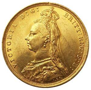 1888-S Victoria Sydney Jubilee Head Sovereign - DISH.S10