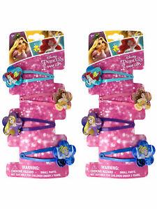 4PAIR Girl Disney Ariel Rapunzel Princess hair accessory Ponytail elastic band