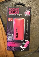 NEW!!! TZUMI Portable External Battery Charger Power Bank 2200 mAh 1A -  (Pink)