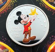 Mickey's Christmas Carol 1983 Colorized 1 oz .999 Silver Coin Mickey Mouse