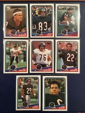 1988 Topps # 69-70-72-73-75-76-78-84 Chicago Bears Lot 8 MCMAHON-COVERT-TOMCZAK