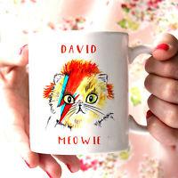 David Bowie Cat Mug Cute Funny Cat Lover David Bowie Gift - Coffee Mug Gift
