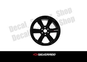 Chevrolet Silverado Rim Wheel Vinyl Decal Sticker 4 Pack Chevy