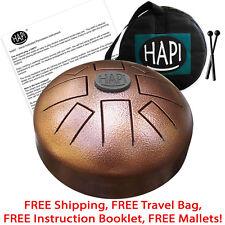 HAPI Mini Steel Tongue Drum in D Akebono Hand Metal Slit Hank Tank Handpan Drum