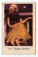1960s Swedish Film Star Card Star # 117 French Sex Symbol Brigitte Bardot