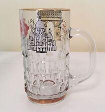 Vintage 1950s Paris France Souvenir Glass Mug Can-can Girl Montmartre