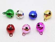 50 JINGLE BELLS~Christmas Mixed Colors~Beads Charms 10mm Decoration DIY Craft