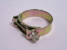 64mm - 67mm TBolt Zinc Yellow Plated Heavy Duty Steel Hose Clamps #16B257