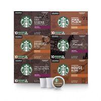 Starbucks Black Coffee K-Cup Coffee Pods Variety Pack Keurig Brewers 60 PODS!!
