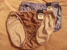 2 Sphinx Print & Mocking Blue Vanity Fair 18108 Nylon Bikini Panties *NEW* XL 8