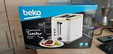 Beko White with Green Highlights 2 slice Toaster - NEW with small mark