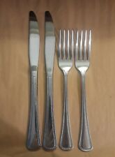 4pc Oneida USA NEEDLEPOINT-BEADED ARTISTRY Stainless - Solid Knives/Dinner Forks