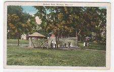 Animal Cages Bear Oschner Park Baraboo Wisconsin 1940 postcard