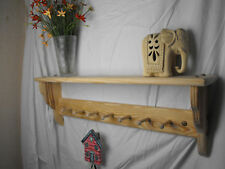 Wooden coat peg rack Shaker style 7 peg unfinished shaker peg racks rails pegs