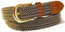 Woven Stretch Belt Mens 5 Colors Size S thru 3XL