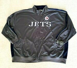 NHL JETS Hockey Men's 6XL Zip Front Jacket Windbreaker Track Style NWT Size 6XL