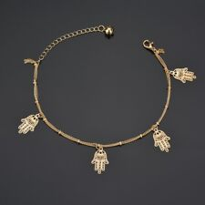 Bracelet Barefoot Sandal Beach Foot Jewelry Women Gold Palm Ankle Chain Anklet