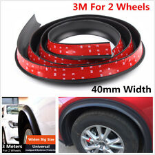 3Meter*4cm Widen Big Size Car Rubber Fender Flare Wheel Eyebrow Protector Strip