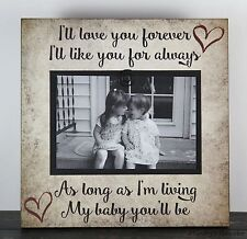 RUSTIC HANDMADE WOOD FAMILY 4 X 6 PICTURE FRAME PHOTO SIGN HOME DECOR 1019