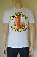 "NEW David & Goliath ""Don't Touch My Junk"" Graphic Tee Junk Food White T-Shirt L"
