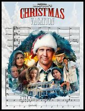 "CHRISTMAS VACATION FRIDGE MAGNET. LARGE 4X5. ""CHRISTMAS VACATION"" SHEET MUSIC."