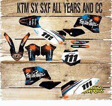 KTM SX SXF 85 125 250 450 FULL MOTOCROSS GRAPHICS KIT-FULL STICKER KIT-DECALS-11