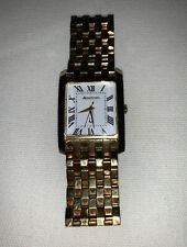 BULOVA ACCUTRON 27A44 GOLD PLATED STAINLESS MEN'S WATCH SAPPHIRE CRYSTAL 705567