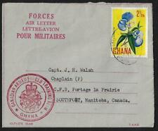 CANADA GHANA 1960s CANADIAN ARMED FORCES TRAINING CONTINGENT AIR LETTER ACCRA TO