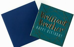 'BRILLIANT BROTHER' BIRTHDAY GREETING CARD - HIGH FOILED - QUALITY - FREE P&P