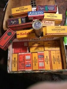 22 Rolls Vintage NOS black and white film w/ boxes $10. each.1940s