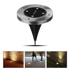 10 x LED Énergie Solaire Lumière sous sol Lampe extérieur Chemin Pelouse Lampe