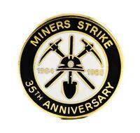 1984/85 MINERS STRIKE 35TH ANNIVERSARY COAL NOT DOLE MINING ENAMEL BADGE