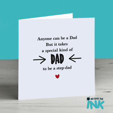 Cute Step Dad Fathers Day Card - Quote - Dad - Special Kind Of Dad