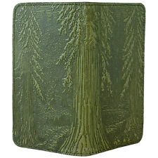 Forest Fern Green Leather Checkbook Cover by Oberon Design COMBINED SHIPPING
