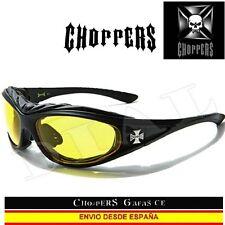 Choppers gafas de noche acolchado moto moda motorista Custom Lunettes occhiali