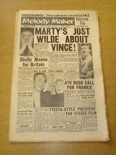 MELODY MAKER 1959 NOVEMBER 14 MARTY WILDE FRANKIE VAUGHAN CHRIS BARBER STEELE +