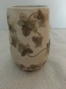 Croscill home ceramic bathroom cup glass tumbler ivy leaf print