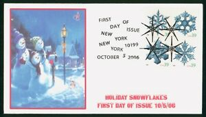 MayfairStamps US FDC Unsealed 2006 Block Snowflakes Christmas First Day Cover ww