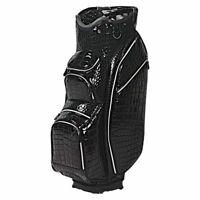 "OUUL Alligator Golf Cart Trolley Bag 15 Way Divider 10"" Top + Grab Handles Black"