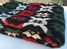 NEW BLANKET SOFA THROW YAK WOOL BLEND BLACK RED WHITE GREEN HANDMADE MULTI-COLOR