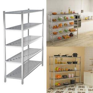 4/5 Layer Stainless Steel Garage Kitchen Storage Rack Workbench Display Shelving