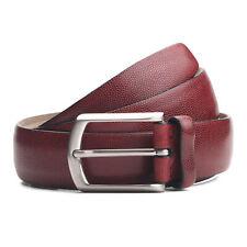 Brioni Men's Handmade 100% Leather Burgundy Belt Multiple Sizes NEW