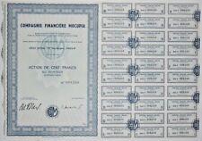 Action - Compagnie Financière MOCUPIA, action de 100 Frs N° 008249