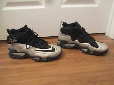 Used Worn Size 11.5 Nike Air Griffey Max 1 Shoes Black Silver Gray