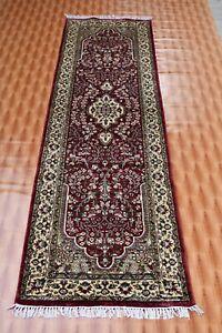 Red Living Room vintage Corridor Runner 2.6x9 ft Oriental Carpet Silk Area Rugs